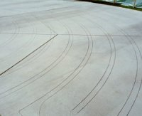 Photo of labyrinth drawn on concrete.