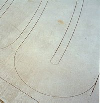 Photo of lines on concrete.