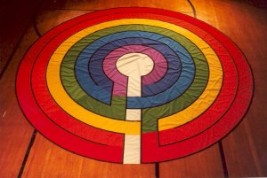 Photo of naylon Rainbow labyrinth.