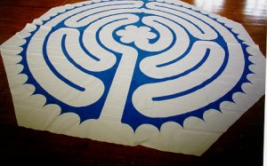 Photo of canvas Heart of Chartres labyrinth.