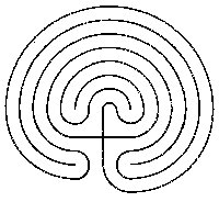 Line drawing of the classical 7-circuit labyrinth.