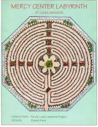 Design drawing of stone and mulch labyrinth.